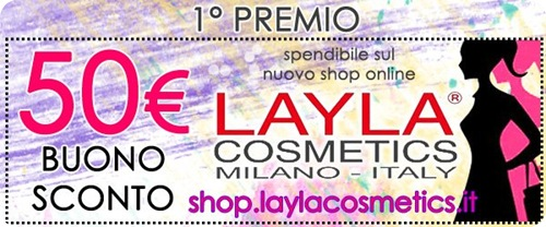 Giveaway-Layla-Cosmetics-buono-sconto-shop-online-50-euro