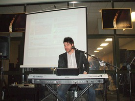 Andy Keys, Musicworks National Keyboard Demonstrator, highlighting the great new sounds and features of the Yamaha Tyros4
