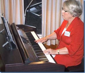 Marlene Forrest playing the Clavinova
