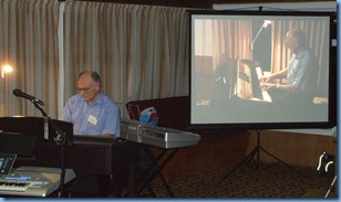 Alan Dadson playing the Clavinova