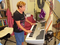 Yvonne Moller feeling right at home on the Korg Pa1X