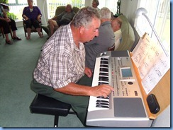 Ken Mahy enjoying the Korg Pa80. Ken has one of these babies at home