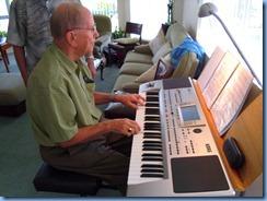John Beales plying the Korg Pa80