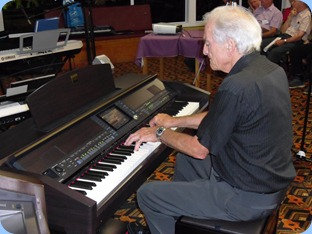 Personality, John Stent, played our Clavinova and then his Yamaha PSR900 keyoboard including some great vocals.
