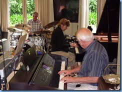Ian Jackson, Carole Littlejohn and Rob Powell jamming