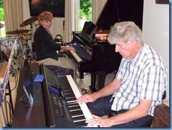 Carole Littlejohn and Ian Jackson doing a duet