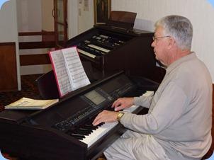 Club Treasurer, played three lovely arrangements for us on the Clavinova