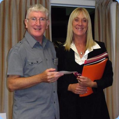President, Gordon Sutherland, thanking Louise Lamb for her wonderful concert