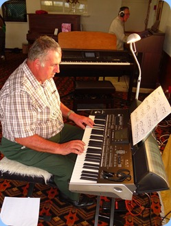 Ken Mahy gave the Korg Pa3X a good workout whilst Roy Steen took advantage of the afternoon to have a practise on the Technics GA3 organ in readiness for his performance for us at our June Club Night.