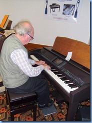 George Watt playing the Club's Yamaha Clavinova CVP-509