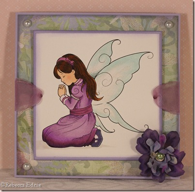 praying faerie purple