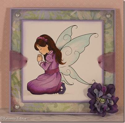 praying faerie purple
