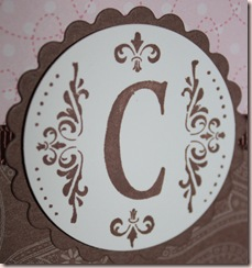 dance box card monogram