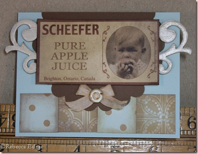 vintage baby label card