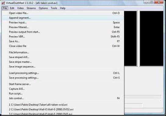 VirtualDubMod - Append Segment