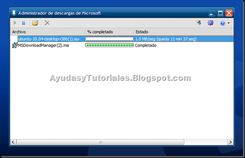 Microsoft Download Manager - AyudasyTutoriales
