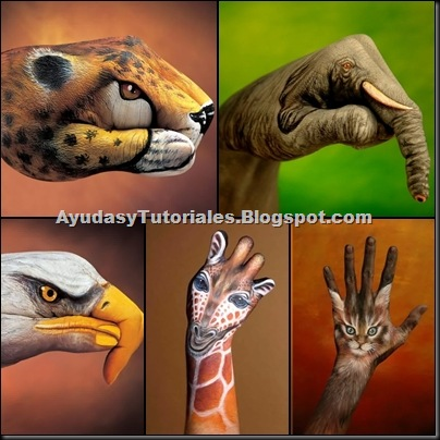 Body Art Animals - AyudasyTutoriales