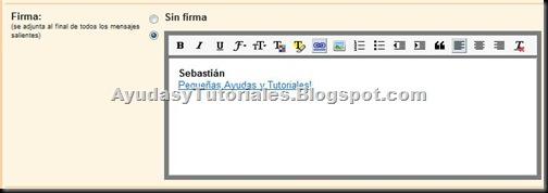 Gmail Firma Enriquecida - AyudasyTutoriales