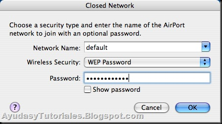 Closed Network - Clave WEP - AyudasyTutoriales
