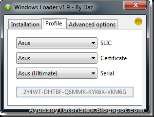 Windows 7 Loader v1.9 by Daz - Profile - AyudasyTutoriales