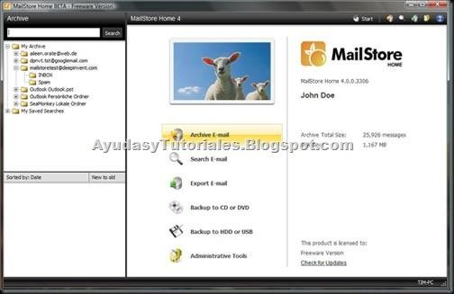 MailStore - AyudasyTutoriales