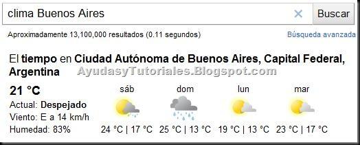 Funciones Google - 1 - Clima