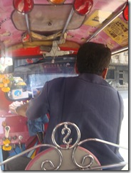 In tuk-tuk view
