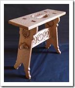 Medieval Oak Stool-1