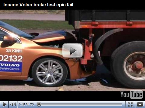 Volvo S60 falha em demonstração de sistema de segurança