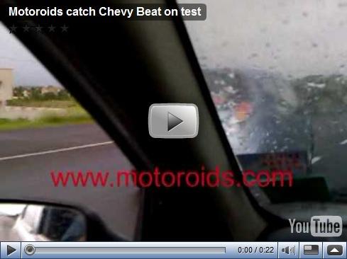 Chevrolet Beat/Spark filmado em testes na Índia