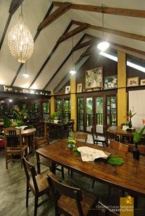 Second floor dining hall at Casa San Pablo