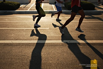 The Run passed through Fort Bonifacio's main thoroughfares