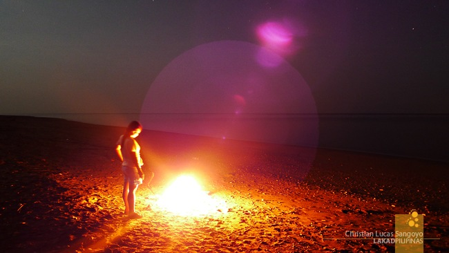 Our Bonfire at Abra de Ilog's Amazona Beach