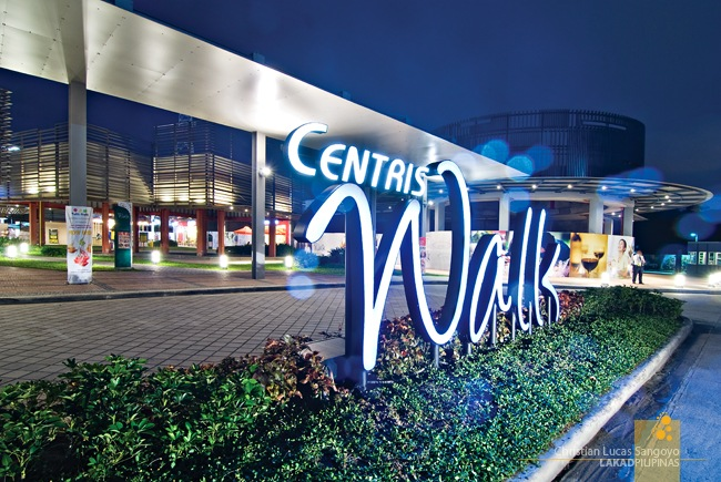 Neon Welcome Sign for Centris Walk