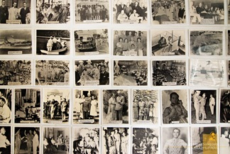 Photographs  of President Manuel L. Quezon at the Corregidor Museum