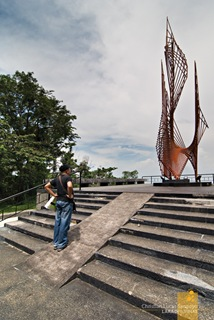 The Eternal Flame at Corregidor's Pacific War Memorial