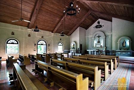 The Rustic Interior of Corregidor's Chapel