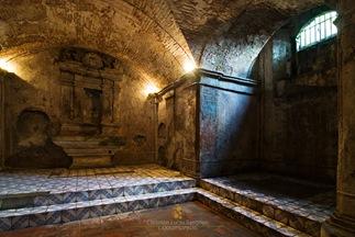 An Altar Underground at Nagcarlan Underground Cemetery