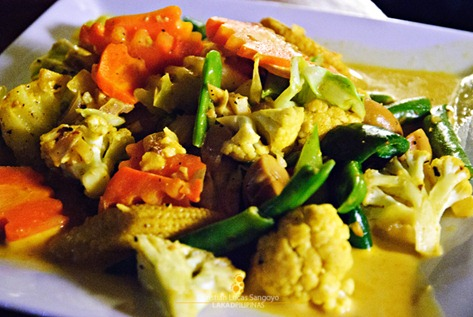 Vegetable Curry at Kawayanan Grill Station