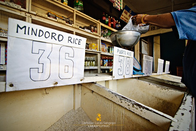 Local Rice at the Coron Market