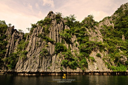 Limestone Cliffs All Around Coron's Twin Lagoon