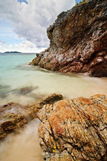 Rocks at the Western Side of the Cove of Malcapuya Island