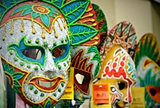 Masskara Masks at Virgie's Bacolod