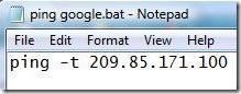 ping   bat file
