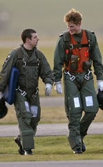 Prince Harry's First Day Of Flight Training (USA AND OZ ONLY)