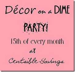 Decor on a dime party button