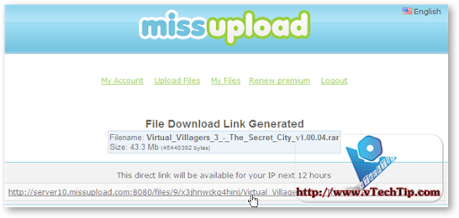 Leech File From RS, MU, HF, NL With Free Premium MissUpload