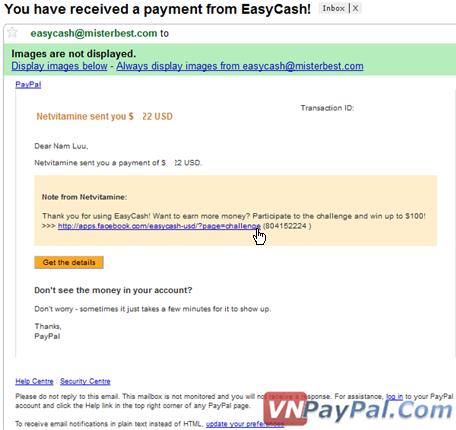Kiếm Tiền EasyCash Trúng 100 USD - Đã Nhận Tiền