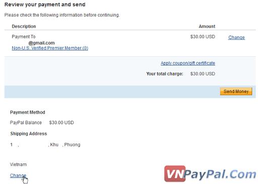 Gửi, Chuyển Tiền Trong PayPal và Cách Tính Phí Giao Dịch