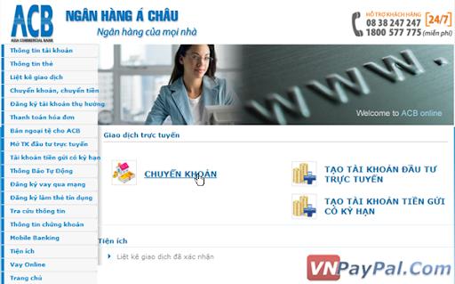 Hướng Dẫn Internet Banking Của Ngân Hàng ACB
